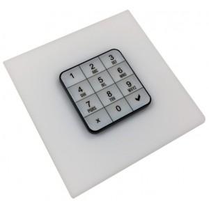 ABIOLOCK clavier blanc à code pour casier bureau