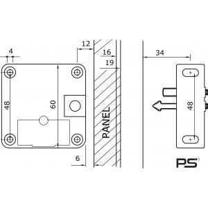 Serrure électrique pour vitrine contrôlée par des  cartes et bades