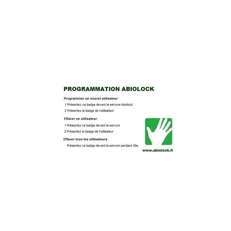 Copie Badge administrateur ABIOLOCK