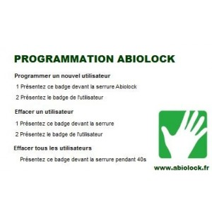 Badge de programmation serrure ABIOLOCK