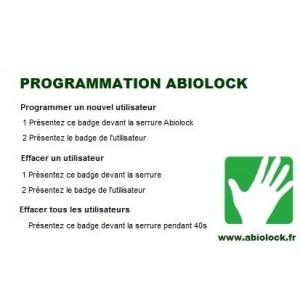 Badge de programmation serrure ABIOLOCK
