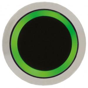 Bouton poussoir sans contact à vert