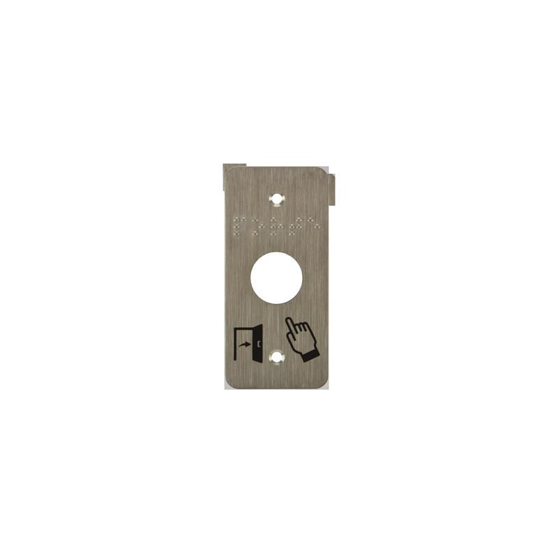 plaque de finition et de pose pour bouton poussoir électrique
