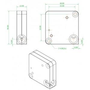 serrure électromagnétique petites 3V dimensions