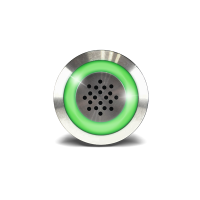 Buzzer et voyant vert 12Vdc