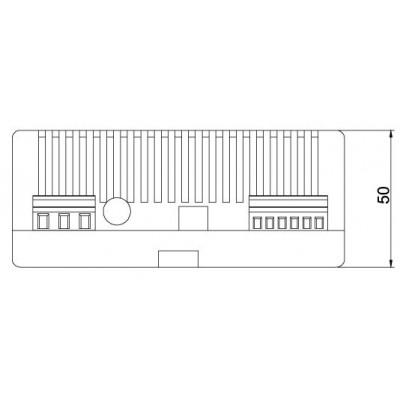 Dimensions alimentations 12v 3A avec chargeur de batterie pour le contrôle d'accès