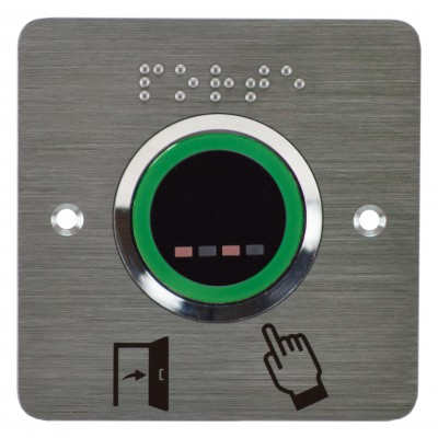 bouton poussoir infrarouge sans contact  à LED verte