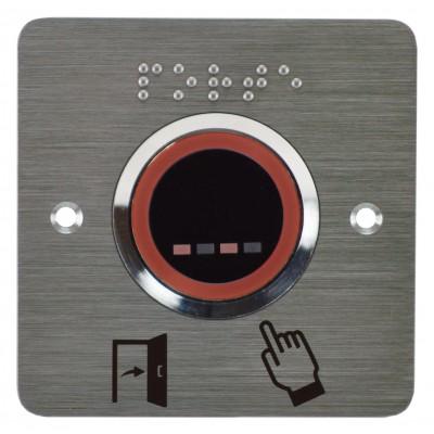 bouton poussoir infrarouge sans contact  à LED rouge