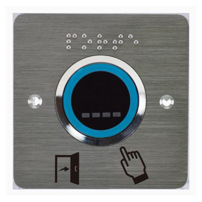 bouton poussoir infrarouge sans contact  à LED bleu