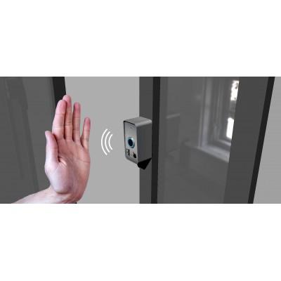 Bouton poussoir de porte sans contact longue détection montage applique