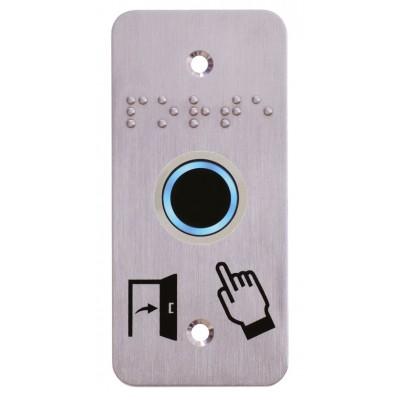 Plaque de finition de bouton poussoir de contrôle d'accès pour demande de sortie de porte
