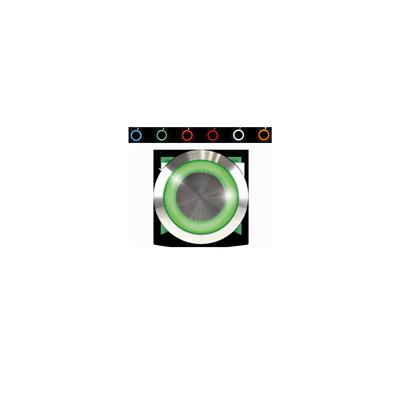 Bouton poussoir impulsionnel étanche pour le contrôle d'accès avec un voyant vert