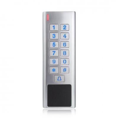 centrale de contrôle d'accès à code clavier et lecteur de badges pour porte