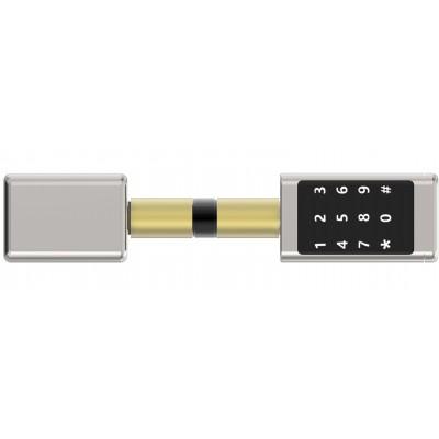 Cylindre électronique à code clavier et à badge et cartes RFID 13.56MHZ