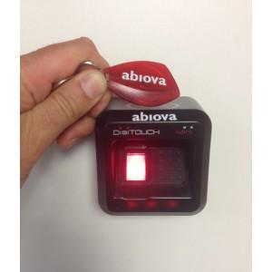 Porte-clefs badge proximité RFID 125khz et mifare et lecteur biométrique d'empreinte